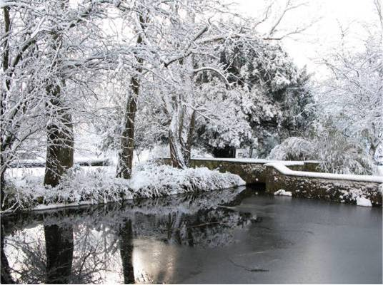 The nun's pond in snow