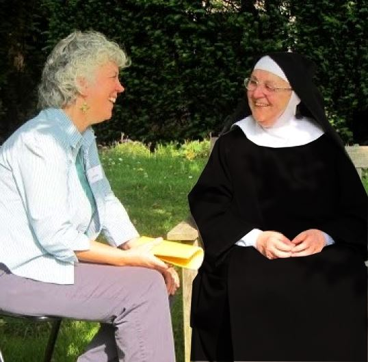 Oblate and nun at reunion event